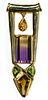 Ron Ray 14k Gold and Semi-Precious Gemstone Pendant