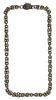 18k / 14k Gold and Gemstone Byzantine Link Necklace