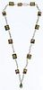 18k / 14k Gold and Semi-Precious Gemstone Necklace