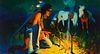 Gerard Curtis Delano (1890-1972); The Evening Campfire