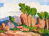 Birger Sandzén (1871-1954); Summer in the Mountains (1923)