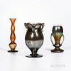 """Three Imperial Art Glass """"Free Hand"""" Vases"""