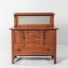 """Limbert """"Model 458 3/4"""" Buffet with French Mirror"""