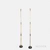 "Two Isamu Noguchi (1904-1988) ""Akari"" Bamboo Floor Lamps"