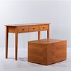 Console Table and Cube End Table with Storage Compartment
