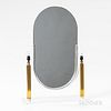 Lucite and Brass Dressing Mirror