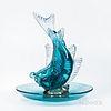 Flavio Poli Fish Sculpture and a Murano Seguso Center Bowl