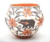 M. Antonio Acoma Pueblo Pottery Bear Motif Olla