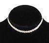 Modern 14K White Gold Braided Chain Necklace