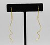 Italian 18K Yellow Gold And Pearl Spiral Earrings