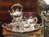 4 Piece Austro- Hungarian Partial Silver Tea set