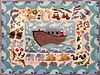"""Hand Hooked 100% Wool Claire Murray """"Noah's Ark"""" Rug"""