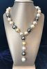 15mm - 12.5mm South Sea Pearl Lariat Necklace