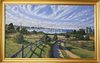 """Illya Kagan Oil on Canvas """"View of the Town of Nantucket from Monomoy"""""""