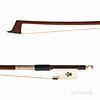 Silver-mounted Violoncello Bow, N. David Crowder