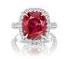 10.50ct NO-HEAT BURMA Ruby And 1.60ct Diamond Ring
