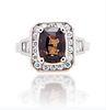3.16ct Alexandrite And 0.54ct Diamond Ring