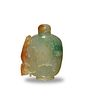 Chinese Jadeite Snuff Bottle with Chilong, 19th Century