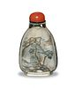 Chinese Inside-Painted Snuff Bottle, Zhou Leyuan