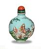 Chinese Carved Porcelain Snuff Bottle, Qianglong