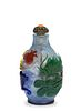 Chinese 5-Color Peking Glass Snuff Bottle, 18th Century