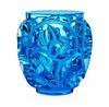Lalique Pale Blue Tourbillon Vase