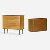 Edward Wormley, chest of drawers, set of two