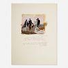 George Deem, Untitled (After Courbet) (Bonjour, Monsieur Courbet)