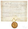 George Clinton signed vellum appointment