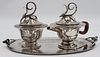 STERLING. IMSA Mexican Sterling Creamer and Sugar