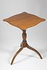 Nantucket Tiger Maple Tripod Candlestand, 19th Century