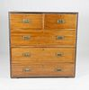Brass Trimmed Campaign Chest of Drawers, 19th Century