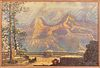 "Harry Raymond Henry Color Lithograph ""Grand Canyon from Union Pacific Grand Canyon Lodge"""