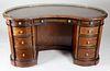Gillow & Co. of London Ebonized Figured Mahogany Kidney Shaped Kneehole Desk, 19th Century