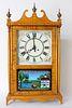Tiger Maple Eglomise Mantel Clock by Martin F. Reynolds, circa 1985