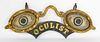 "Cast Iron Paint Decorated Figural ""Oculist"" Trade Sign"