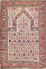 Antique Hand Knotted Oriental Prayer Carpet