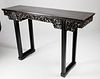 Chinese Carved Teak Wood Altar Table, circa 1850