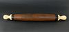 Whaleman Made Whale Ivory Handle Rolling Pin, circa 1840