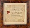 Connecticut Merchant Ship Voyage Article Document, 18th Century