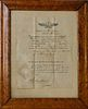 1842 New Bedford, Massachusetts Whaling Voyage Customs Document of the Ship Martha Of New Bedford