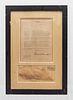 FDR Signed Letter. NY Chapter Baseball Writers of America, Jan 25,1937. Framed, w/Original White House Letterhead Envelope -CoA- $300K APR Value!+