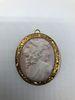 Antique pink Cameo 14 k gold frame