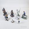 Three Royal Copenhagen and Four Bing & Grondahl Ceramic Figures