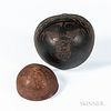 Two Carved Coconut Shell Bowls