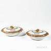 Pair of Chinese Export Porcelain Covered Vegetable Dishes