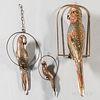Three Sergio Bustamante (b. 1942) Metal Parrot Sculptures