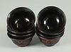 set of 8 Chinese lacquer bowls, possibly 18th c.