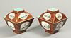 pair of Chinese export porcelain cover bowls, possibly Qianlong period