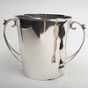 Mexican Silver Ice Bucket and Tongs